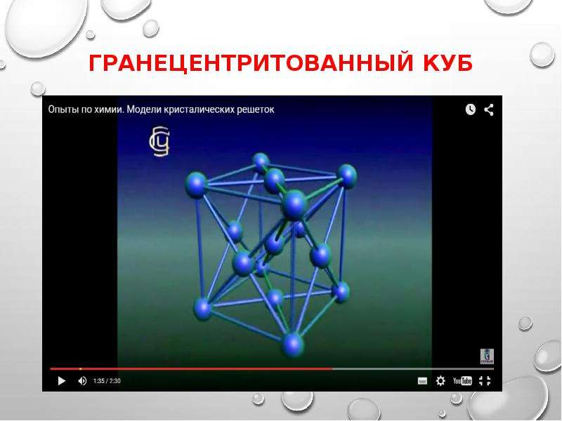 ГРанецентритованный куб
