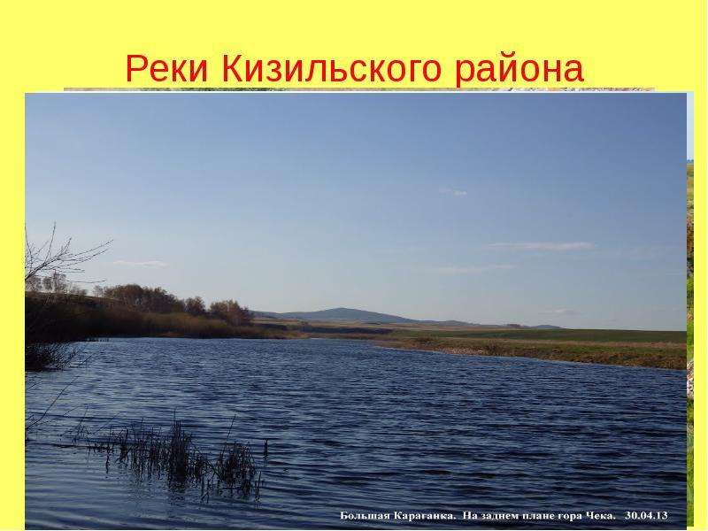 Реки Кизильского района