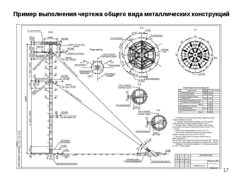 Чертеж узла металлической строительной фермы, слайд 17
