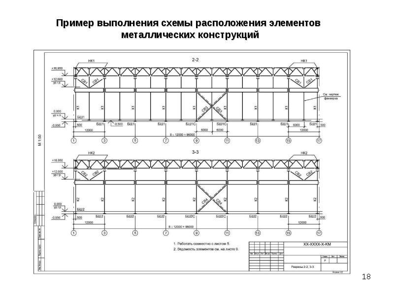 Чертеж узла металлической строительной фермы, слайд 18