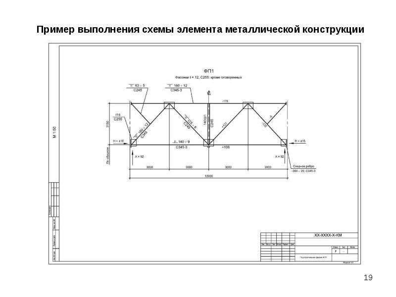 Чертеж узла металлической строительной фермы, слайд 19