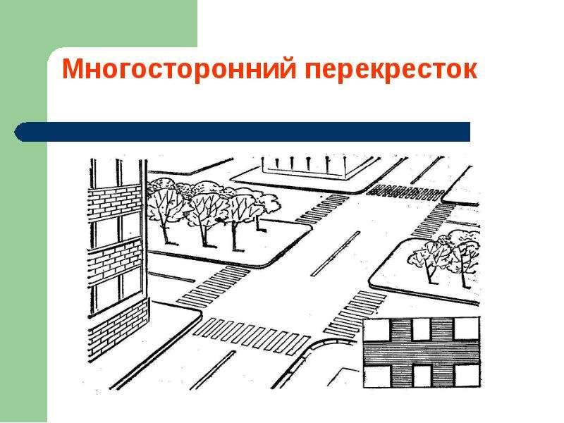 Перекрестки и их виды. Движение пешеходов и водителей, слайд 8