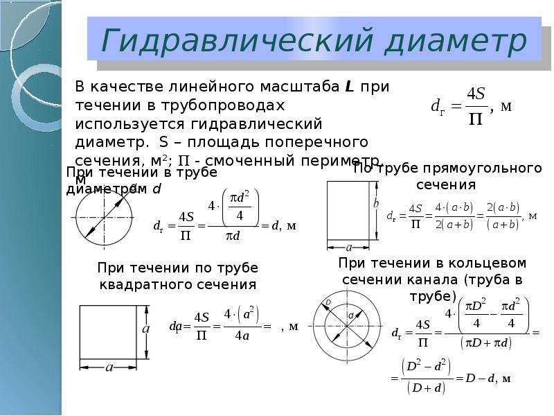 Гидравлический диаметр