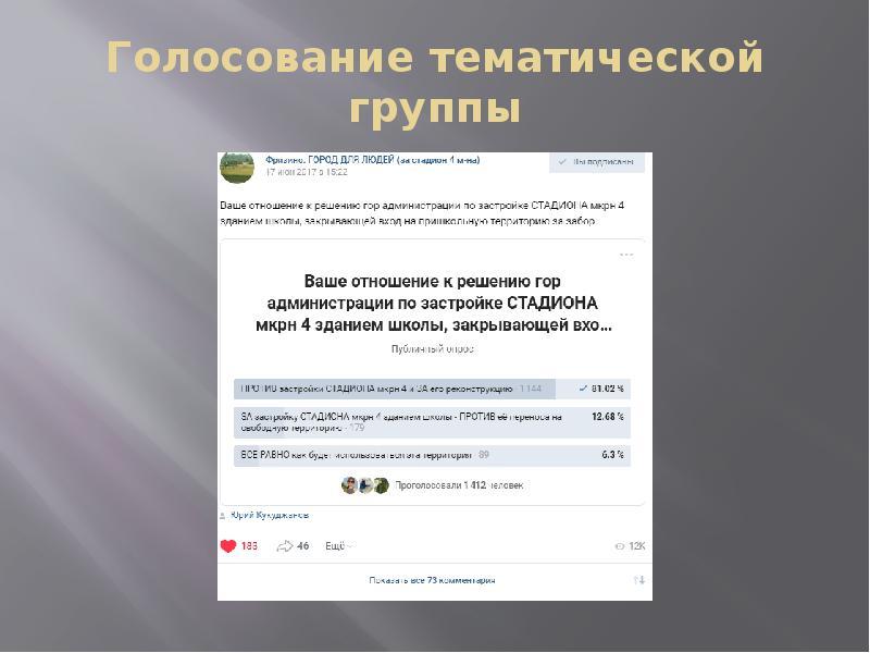 Голосование тематической группы