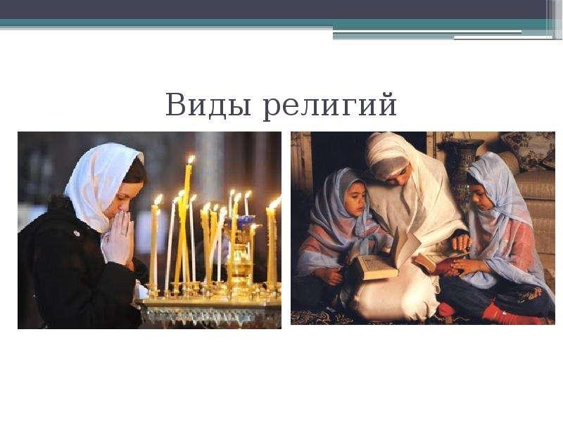 Виды религий