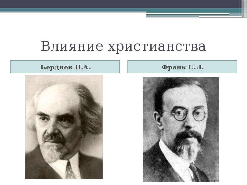 Влияние христианства Бердяев Н. А.