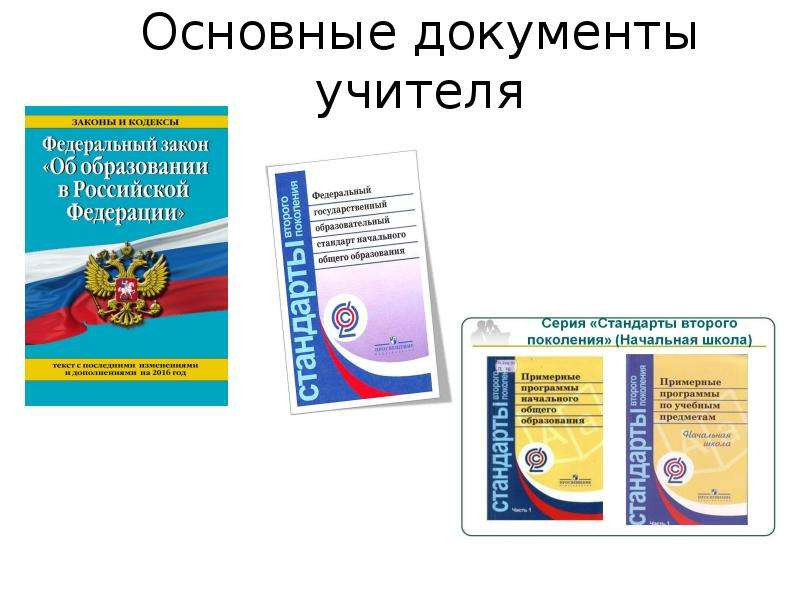 Основные документы учителя
