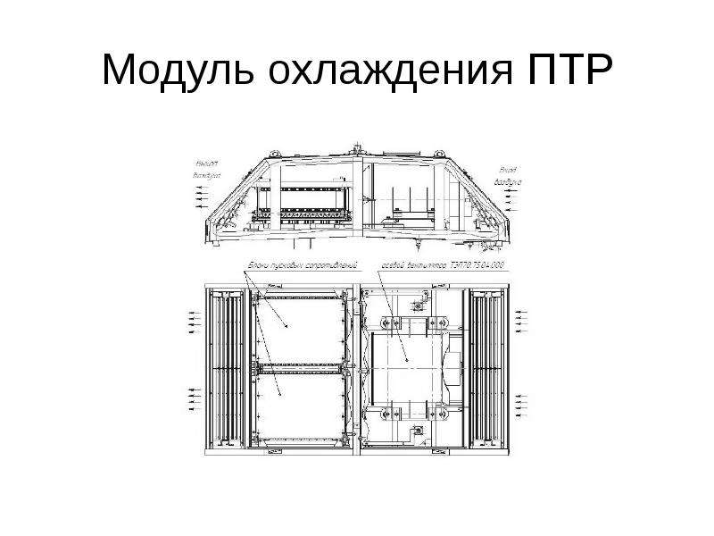 Модуль охлаждения ПТР