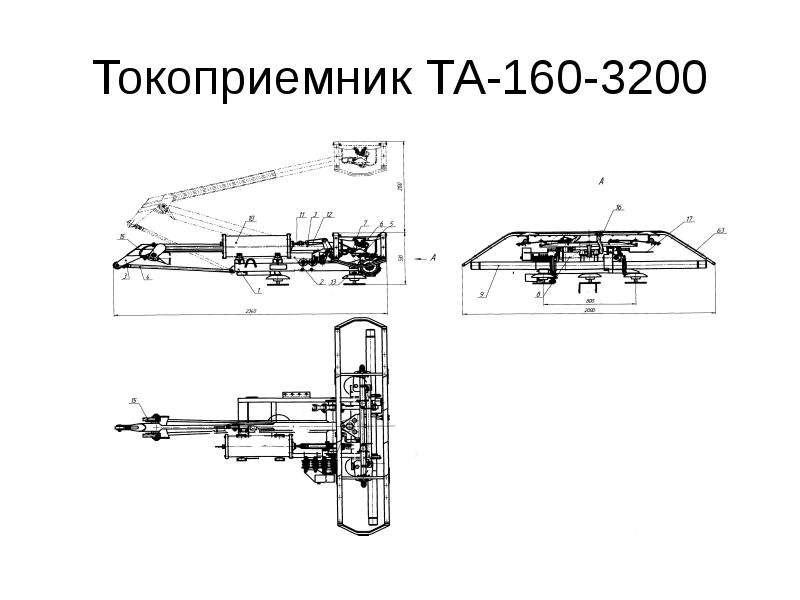 Токоприемник ТА-160-3200
