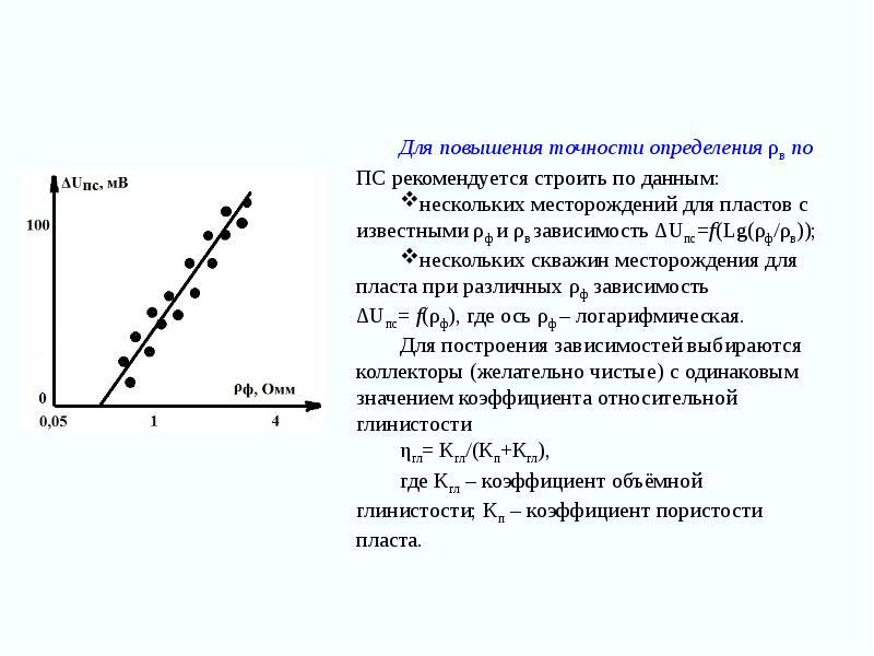 Для повышения точности определения ρв по ПС рекомендуется строить по данным: Для повышения точности