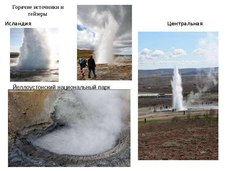 Горячие источники и гейзеры Исландия Центральная Америка
