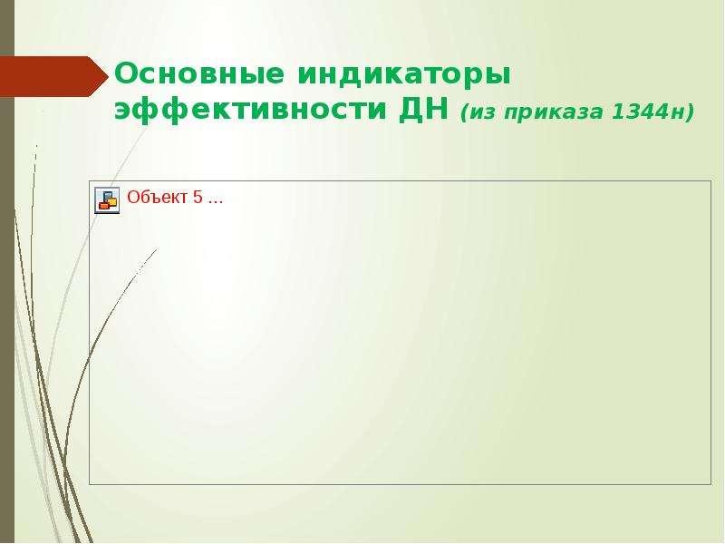 Основные индикаторы эффективности ДН (из приказа 1344н)