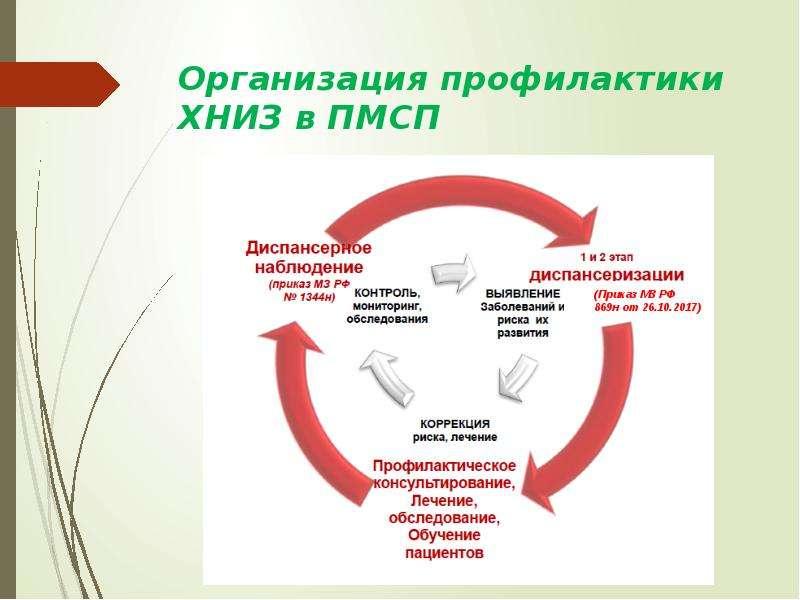 Организация профилактики ХНИЗ в ПМСП