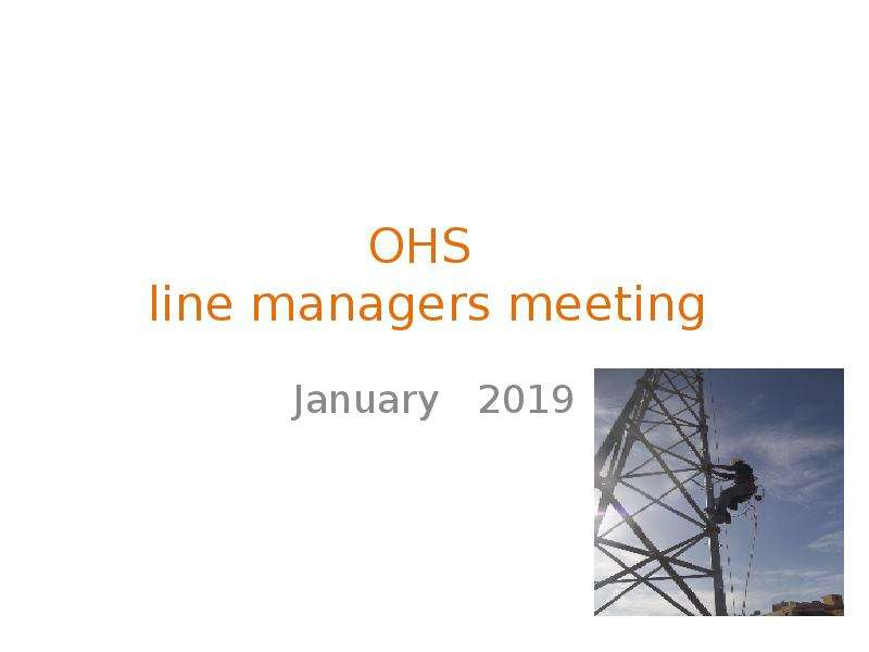 OHS line managers meeting
