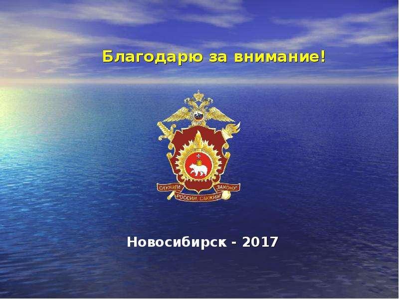 Благодарю за внимание! Новосибирск - 2017