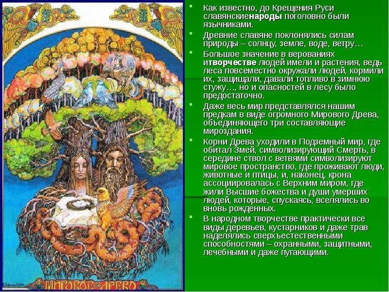 Как известно, до Крещения Руси славянскиенароды поголовно были язычниками. Как известно, до Крещения