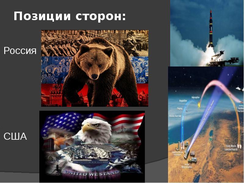 Позиции сторон: Россия США