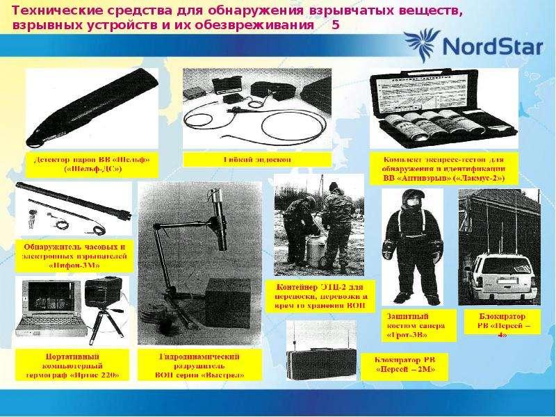 Технические средства для обнаружения взрывчатых веществ, взрывных устройств и их обезвреживания 5