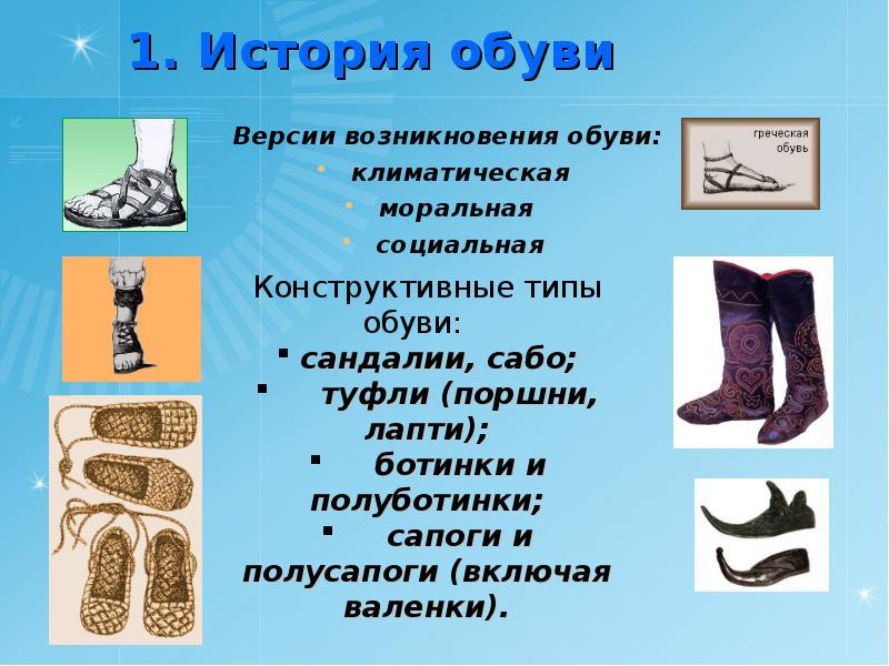 вскоре история развития обуви в картинках традиционная