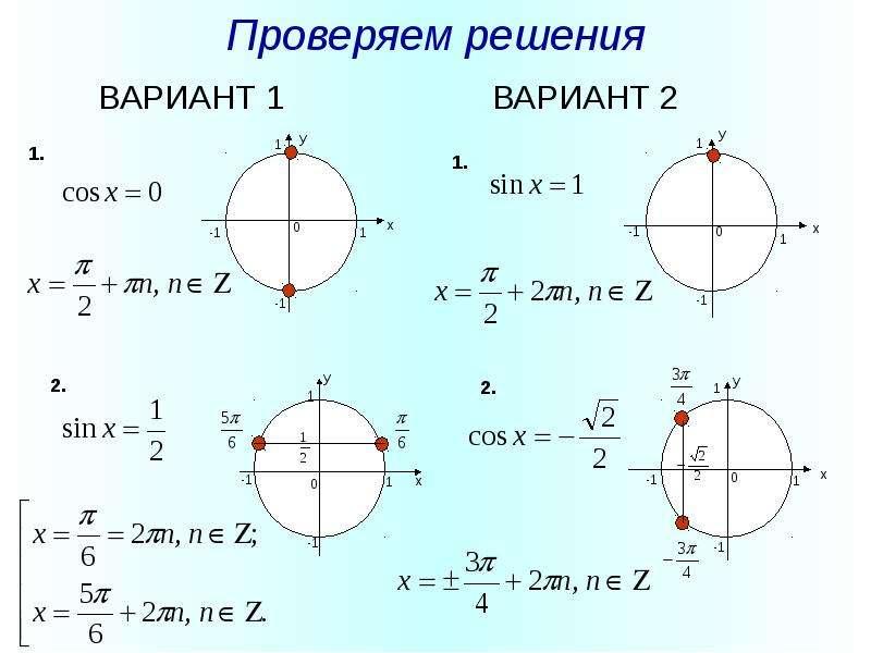 Проверяем решения ВАРИАНТ 1 ВАРИАНТ 2
