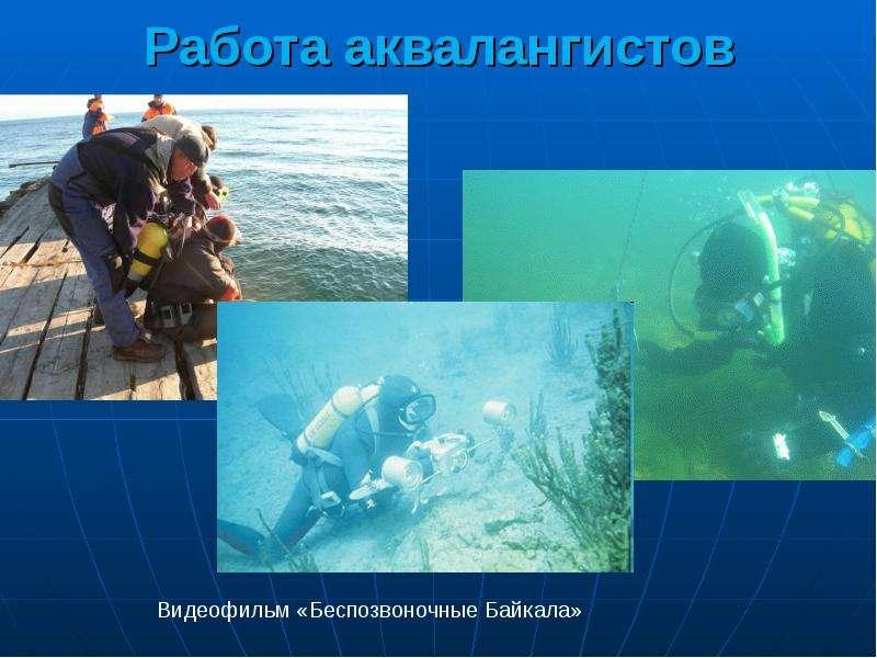 Работа аквалангистов