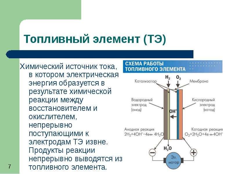 Химический источник тока, в котором электрическая энергия образуется в результате химической реакции