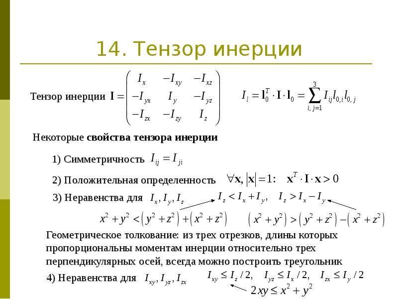 14. Тензор инерции