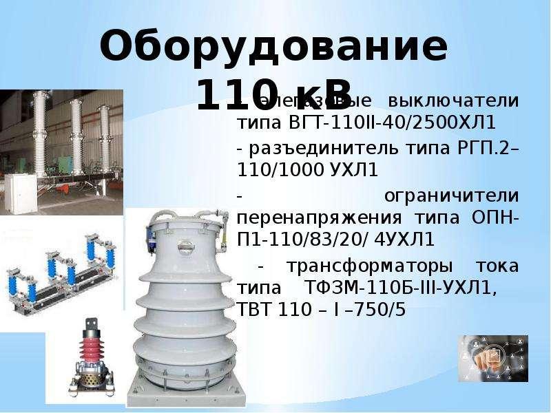 Оборудование 110 кВ