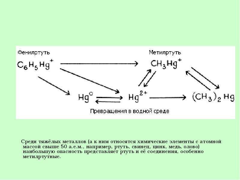 Среди тяжёлых металлов (а к ним относятся химические элементы с атомной массой свыше 50 а. е. м. , н