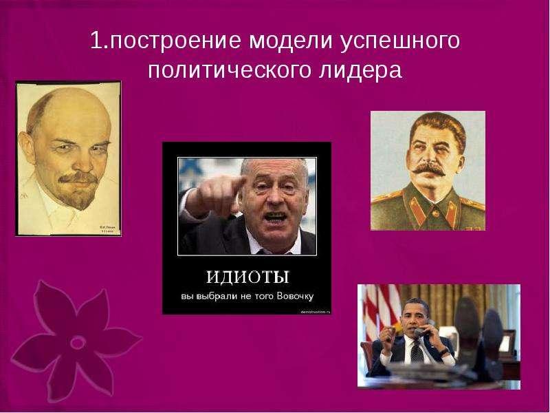 1. построение модели успешного политического лидера