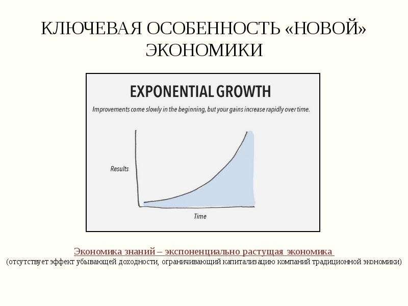 Ключевая особенность «новой» экономики