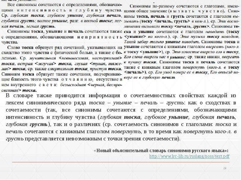 Синонимия. Подходы к изучению синонимии, слайд 24