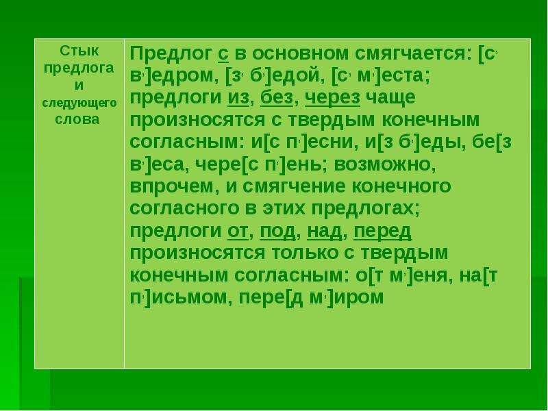 Позиционная мена согласных звуков, слайд 14