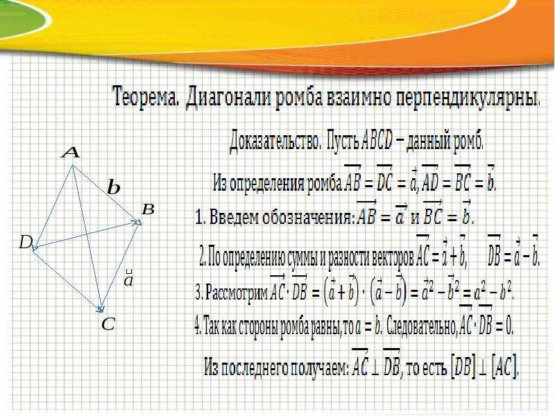 Векторы и их применение при доказательстве теорем, слайд 22