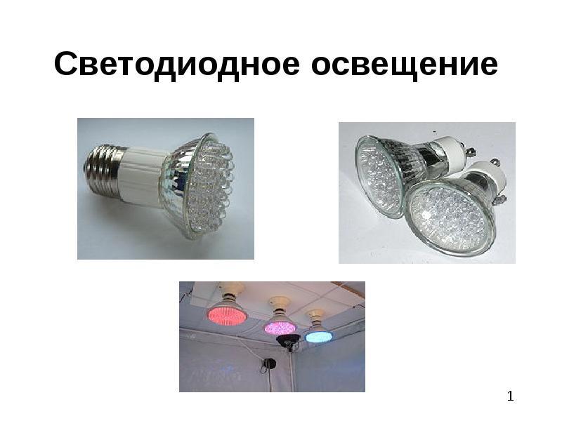 Презентация Светодиодное освещение
