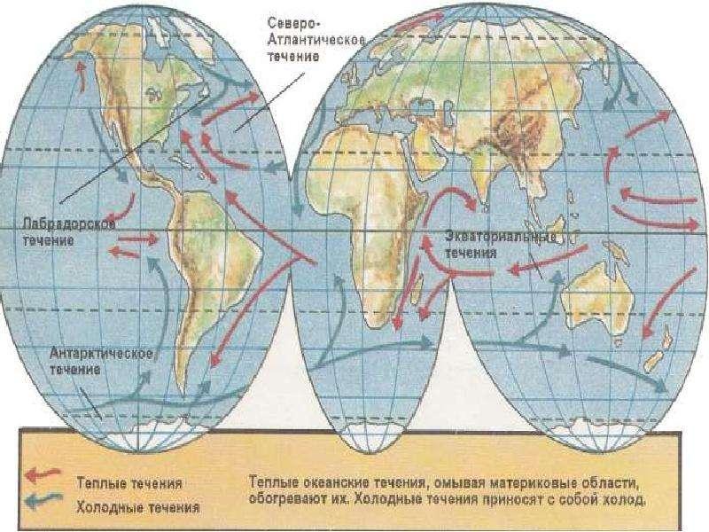 Теплые и холодные течения Мирового океана, слайд 9
