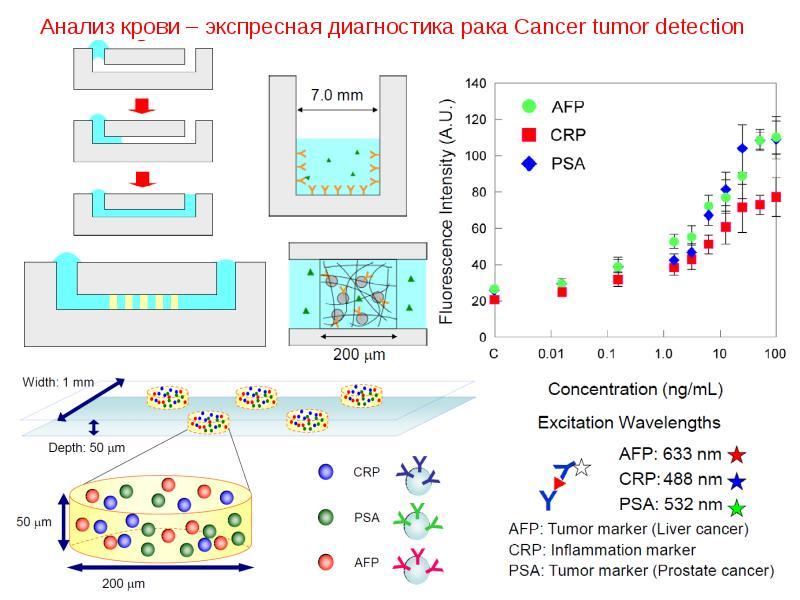 Анализ крови – экспресная диагностика рака Cancer tumor detection