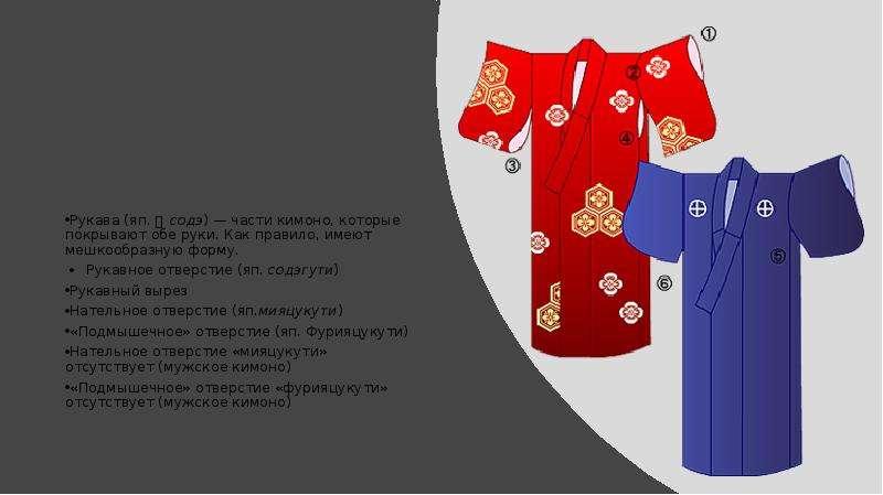 Идеал красоты и костюм традиционной Японии (виды текстиля для изготовления одежды, обувь, прическа и головные уборы), слайд 5