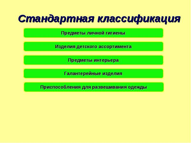 Стандартная классификация
