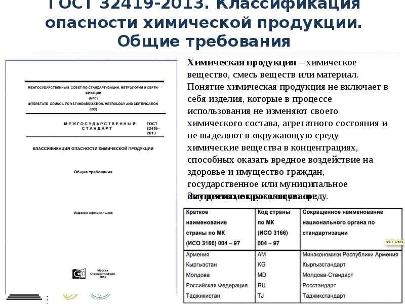 ГОСТ 32419-2013. Классификация опасности химической продукции. Общие требования