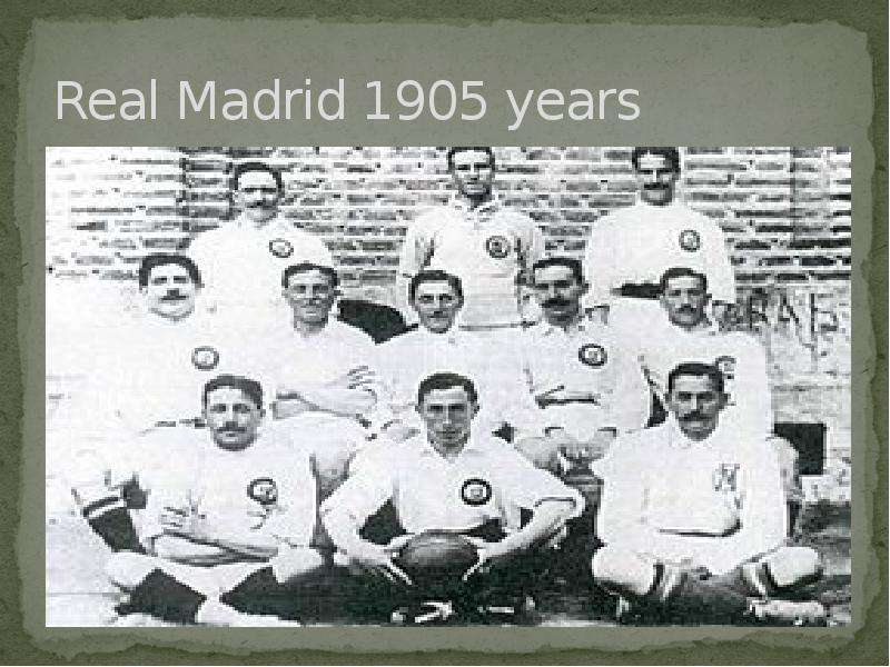 Real Madrid 1905 years
