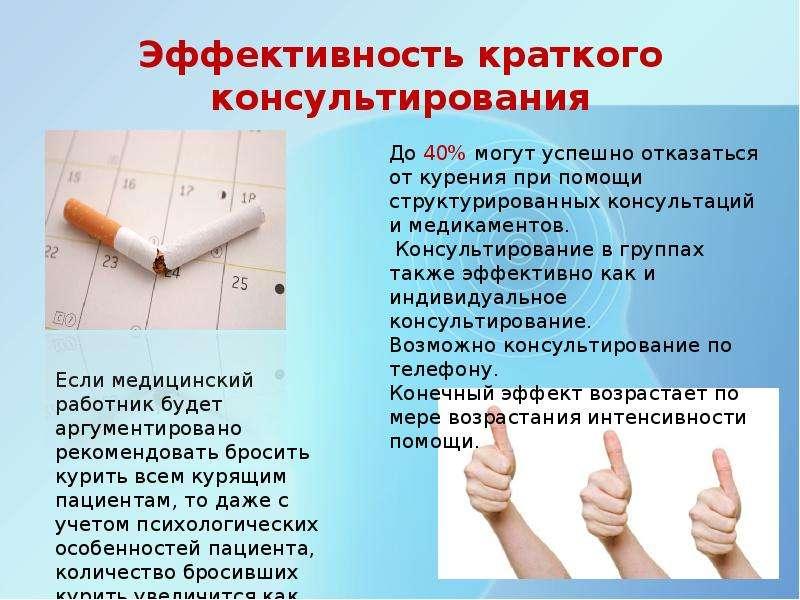 Эффективность краткого консультирования