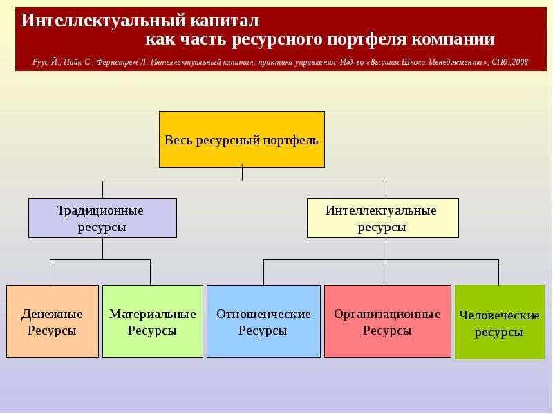 Интеллектуальный капитал как часть ресурсного портфеля компании Руус Й. , Пайк С. , Фернстрем Л. Инт