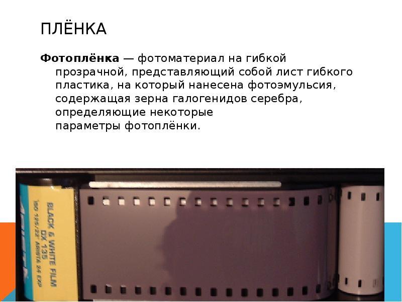 основные характеристики фотопленки и матрицы пегой зебры отличается