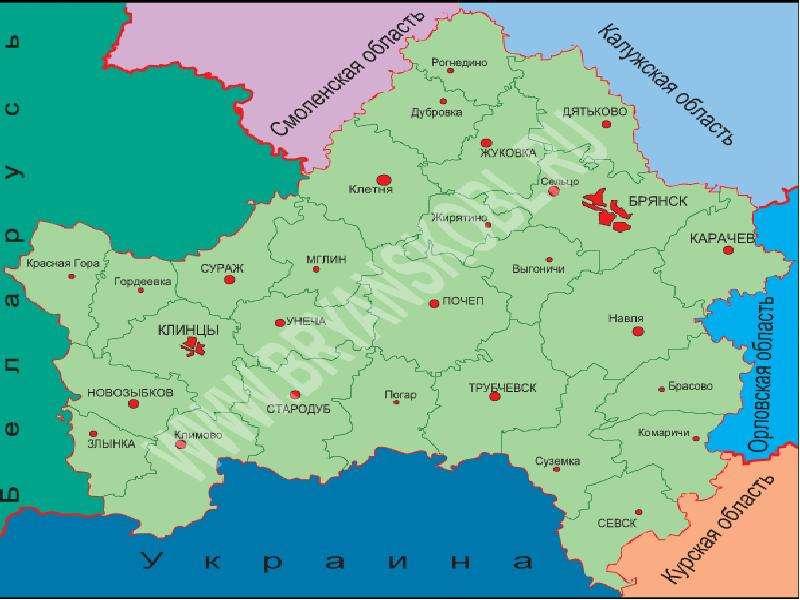 организуйте поздравление карта с фото брянской области раскинулось реке нугрь