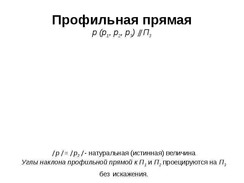 Профильная прямая р (р1, р2, р3)  П3