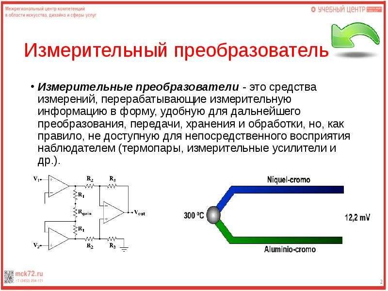 Измерительный преобразователь Измерительные преобразователи - это средства измерений, перерабатывающ