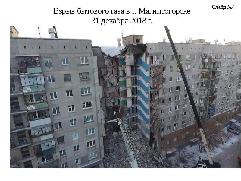 Предложения по повышению эффективности ведения АСДНР при разрушении зданий в результате взрыва бытового газа, слайд 4