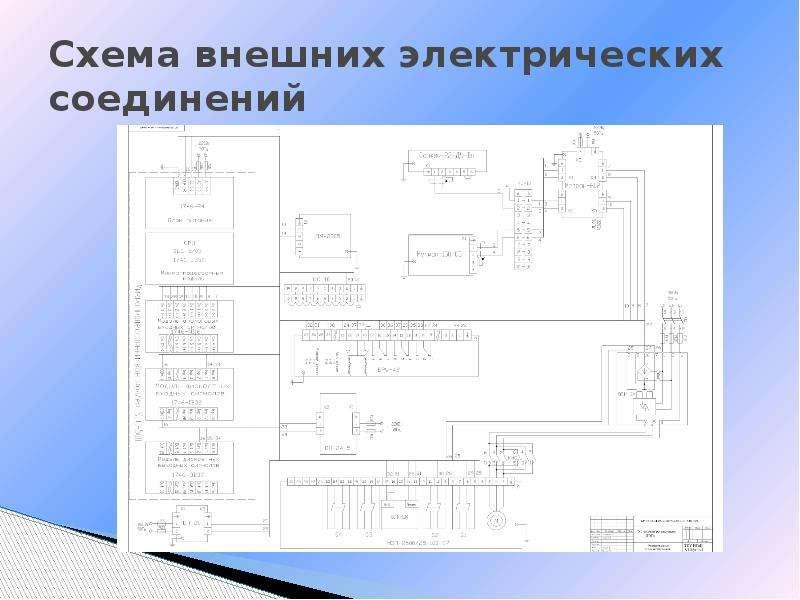 Схема внешних электрических соединений