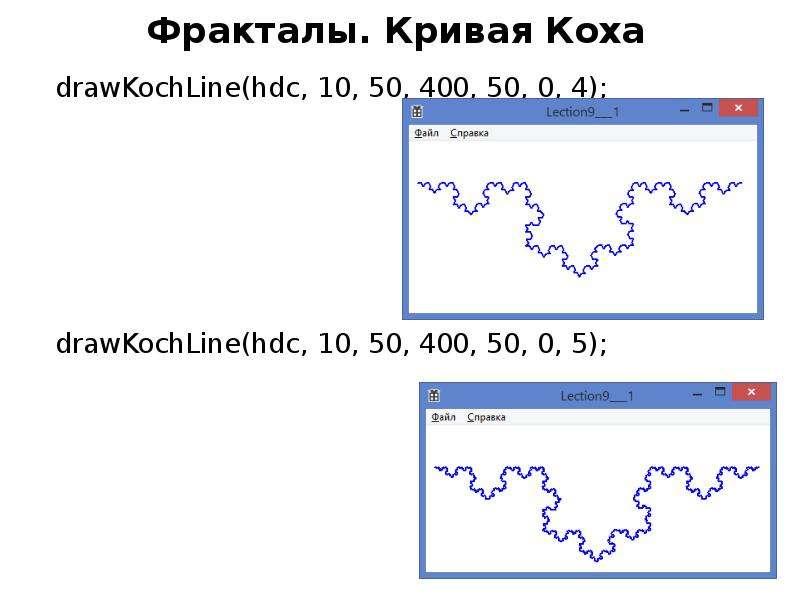 Фракталы. Кривая Коха